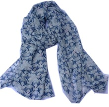 2016 Fashion Insect Print Scarf Women Blue Bird Scarf Animal Wrap Hijab Echarpe Women Shawls Bufanda Free Shipping