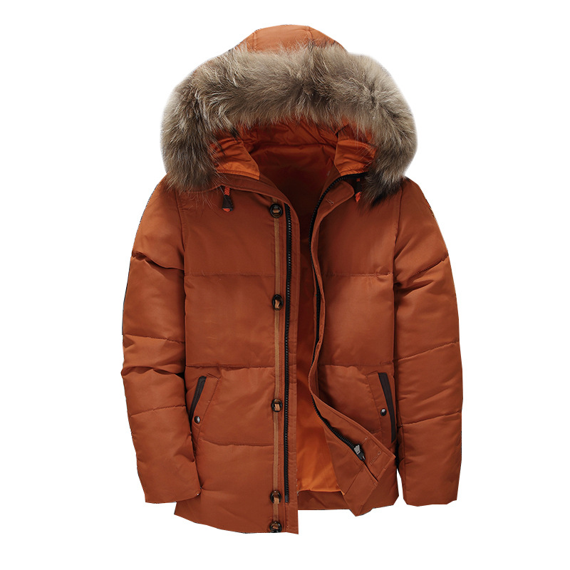2018 Winter Jacket Men's   Down   Jackets Male Outerwear Hooded Fur Collar Thickening Parkas Duck   Down     Coats   Plus Size 3XL