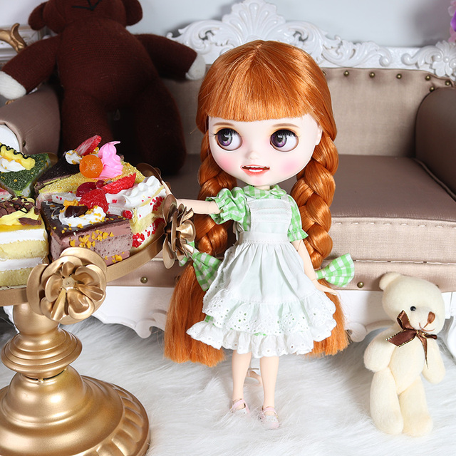 ICY blyth doll hand painted matte face white skin cute golden hair suit doll with teeth lips eyebrows 30cm DIY BJD SD gift