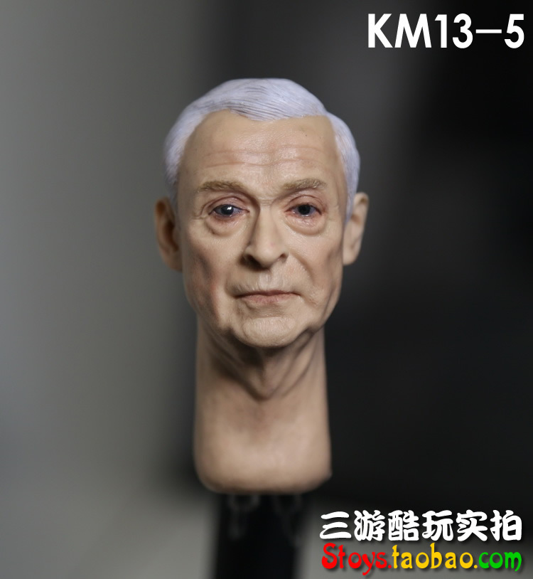 1/6 scale figure doll head shape for 12 action figure doll accessories Batman Alfred Michael Caine male Head carved 1 6 scale figure doll head shape for 12 action figure doll accessories iron man 2 whiplash mickey rourke male head carved