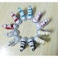Горячие Разные Цвета Холст Обувь Для BJD Куклы, 3.5 СМ Мини Игрушки, Обувь 1/6 Bjd Обувь для Куклы Аксессуары