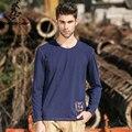 Pioneer camp 2017 otoño para hombre de la camiseta de manga larga de calidad cómoda clothing imprimir hombres camiseta del o-cuello del algodón masculino 622001