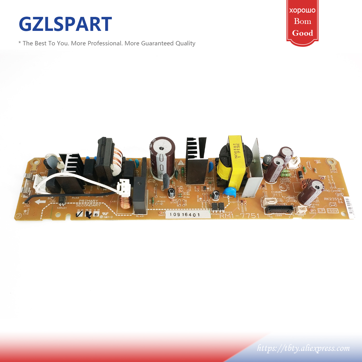 RM1-7751 RM1-7752 Engine Power Board For HP CP1025 CP1025nw 1025 1025nw Voltage Power Supply Board