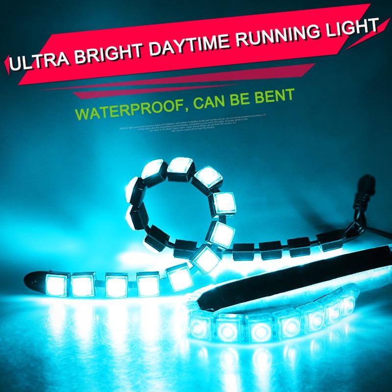 12V / 24V 2PCS automašīnas dienas gaismas gaisma LED dienas laika gaisma Miglas lukturis 6-20PCS LED miglas lukturis Toyota Hyundai bmw ūdensnecaurlaidīgam DRL