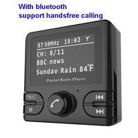 Car DAB Radio Receiver+ FM Transmitter Handsfree Bluetooth Radio In Car DAB Radio Tuner with Antenna Support TF Card