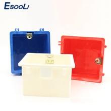 Esooli Горячая 86*86 мм кассета универсальная белая распределительная коробка для монтажа в стену для ЕС/разъем стандарта Великобритании задняя коробка и настенный сенсорный выключатель популярный в RU