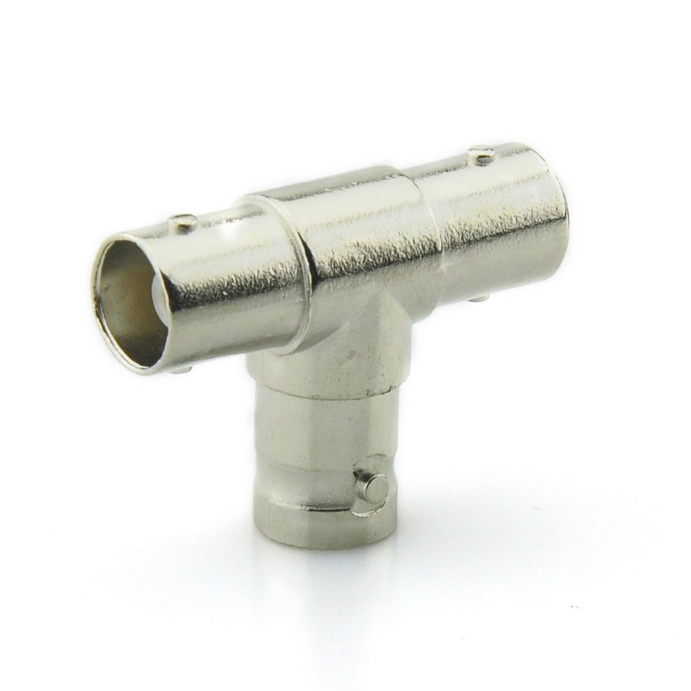 BNC 3 Female Adapter Connector Coaxial T-Adapter Coupler T Type