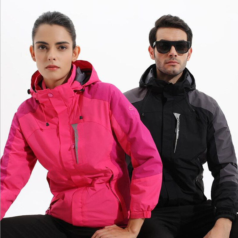 Free Shipping-Boojee NEW HQ Lover Winter Outdoor Wind/Waterproof  Breathable Warm Hiking 3in1 Fleece Jackets 17998