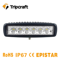 Tripcraft New 2PCS 6inch 18W LED Work Light Single Row For Motorcycle Tractor Boat OffRoad 4WD