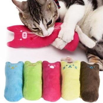 1 Pcs Catnip Cat Toys Pillow Interactive Cat Toy Catnip Pet Supplies Pillow Thumb Plush Teeth Grinding Bite Mint Cat Accessories 1