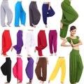 Mujeres Causal Harem Genie Aladdin Gypsy Danza Pantalones Baggy Mono Colorido