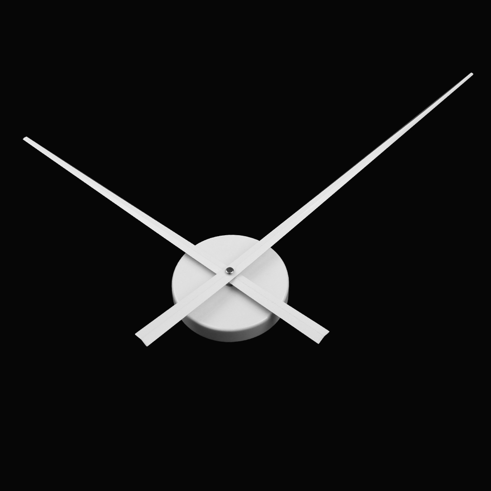 White Color Large Clock Needles Accessory for 3D Wall Clock DIY Big Size Clock Hands and Metal Mechanism Living Room Decoration
