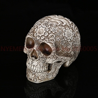 Home Table Decoration Handicraft Human Terror Resin Skull Skeleton Statue Sculpture Halloween Decoration Model Art Gift 5pcs
