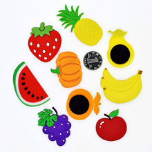 SUEF Free delivery cartoon children kawaii fruit banana strawberry watermelon apple pear refrigerator magnet souvenir magnet @2(China)