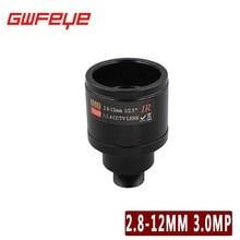GWFEYE HD 3.0MP M12 2.8-12 ММ Варифокальный Объектив CCTV F1.4 Ручной фокус Увеличить Угол обзора 90 ~ 28 Градусов ИК Объектив Для Безопасности камеры
