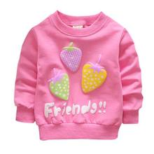 Pink/Rose Red Sweater For Boys Girls Strawberry Sweet Long Sleeve Casual Sweater 4 Colors For 0-2 Year Children Sweater j3(China)
