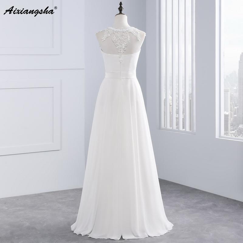New Hot Selling Vestido de Noiva Casamento Robe De Mariage Scoop A-line lace Appliques Custom Made Wedding Dresses 4