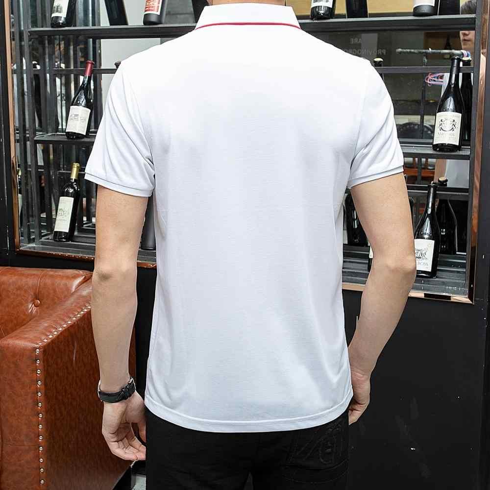 HAYBLST 2019 夏ブランドポロシャツ男性デザイナー固体綿半袖ブランド服ビジネスポロシャツカジュアル通気性作業