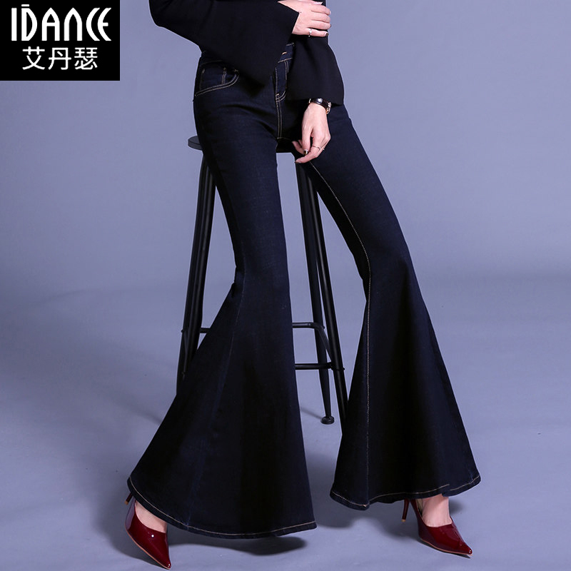 Free Shipping 2018 New Fashion Lengthen Jeans For Tall Women Flare Pants Bell Bottom Stretch Plus Size 24-32 Four Season Jeans free shipping new women boot cut jeans girls fashion bell bottom trousers mid waist flares pants size 25 32