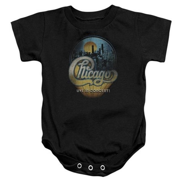 Trevco Chicago-Live – Infant Snapsuit – Black Small 6 Mos
