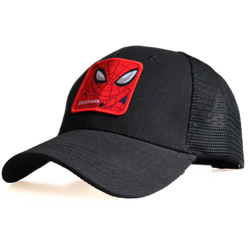 Spiderman venom iron man Baseball Cap Super hero Hat for Women Men Summer Sun Cap(China)