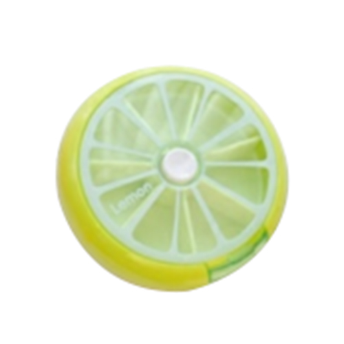 Best Cute Fruit Pattern Round 7 Day font b Tablet b font Pill Weekly Boxes Holder