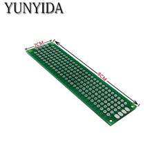 98-13 free shipping 5pcs 2x8cm  Double Side Prototype PCB Universal Printed Circuit Board