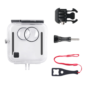 Image 3 - 40M Waterproof Housing Case Back Door For Gopro Fusion 360 Camera Underwater Box For Go Pro Fusion Action Camera Accessories