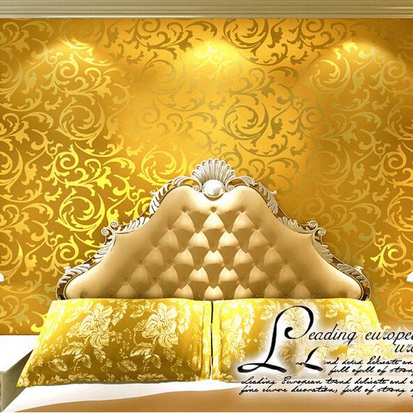 Washable Waterproof Pvc Gold Foil Floral Wallpaper Modern Designs For Tv Background Brightly Decor Papel De Parede