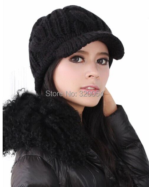 Free shipping,1pcs,Korean version of women's knitted caps,winter warm hats,pure color stripe,beige black coffee brand winter hat knitted hats men women scarf caps mask gorras bonnet warm winter beanies for men skullies beanies hat