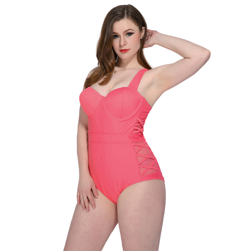 6ef7246b7cfaf 2018 Newest one piece swimwear padded underwire beachwear summer  professional surfing suit plus size swimsuit bandage bodysuit-in Body Suits  from Sports ...