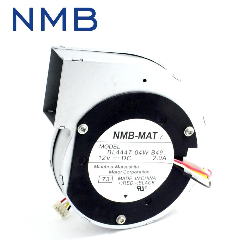 Free shipping Japan NMB 11028 12V 2A 11cm centrifugal turbine fan BL4447-04W-B49 free shipping 133 disc centrifugal fan ywf f2s 133 220v 32w plastic impeller