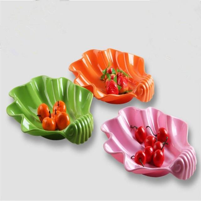 2pcs/set Tray Cute Shell Fruit Dish Kid Breakfast Tray Cartoon Plates Plastic Pallet For & 2pcs/set Tray Cute Shell Fruit Dish Kid Breakfast Tray Cartoon ...