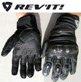 REVIT Curb leather motorcycle racing gloves man motocross glove motorcyclist motorbike Moto equipment carbon mittens