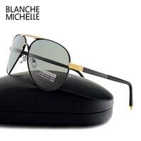 בלאנש מישל מותג יוקרה גברים חדשים משקפי שמש מקוטב 2017 משקפיים שמש זכר משקפי שמש UV400 איכות גבוהה לנהיגה תעופה