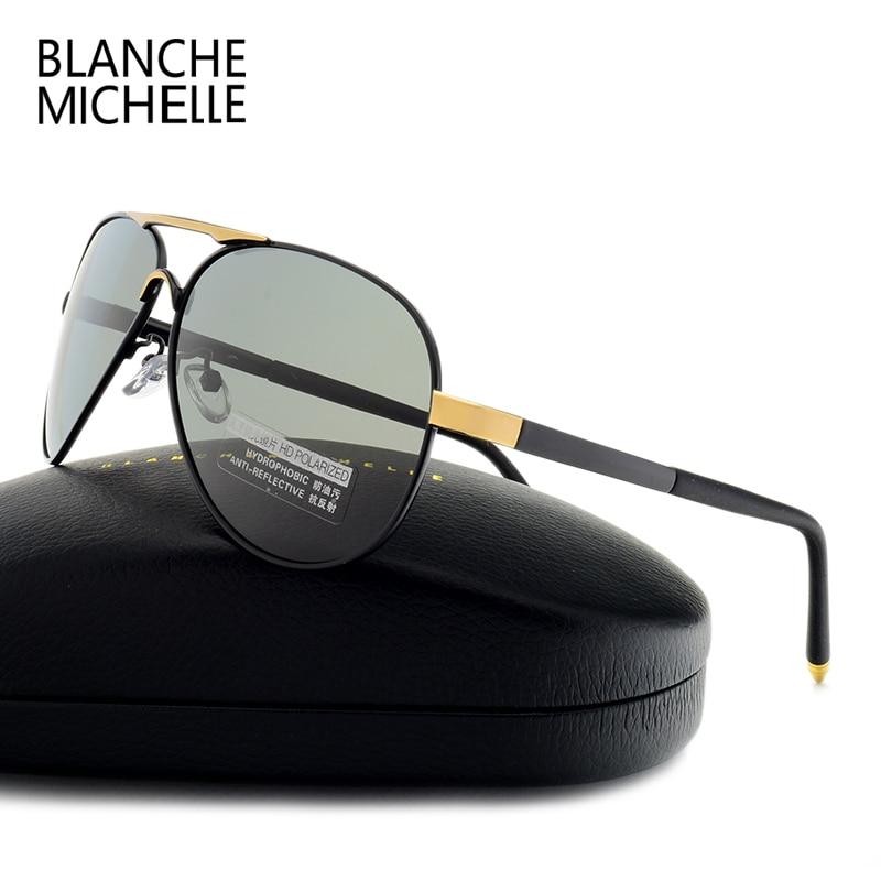 Blanche Michelle 2018 New Pilot sunglasses men polarized sun glasses for Driving High Quality UV400 sunglass Male with box