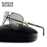 Blanche Michelle 2019 nouveau pilote lunettes de soleil hommes lunettes de soleil polarisées pour la conduite de haute qualité UV400 lunette soleil homme
