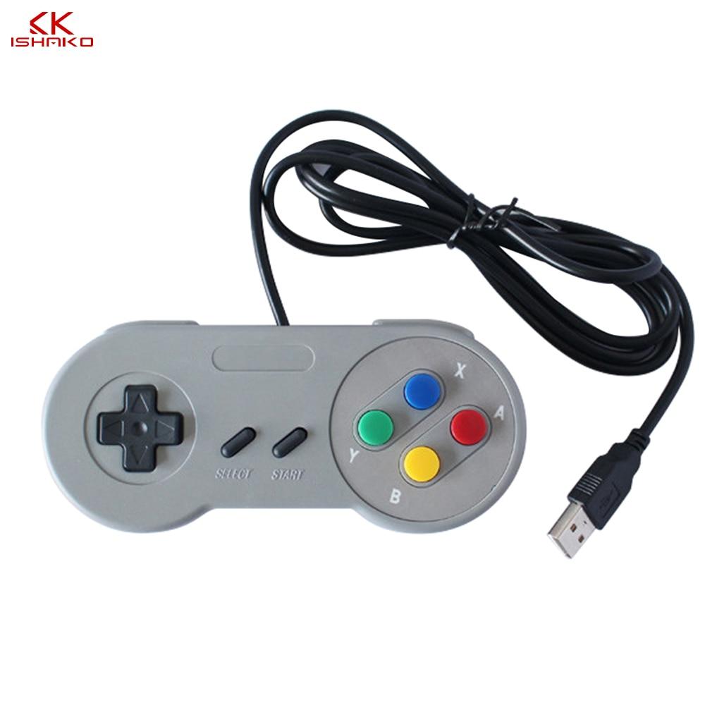 USB 2.0 PC Gamepad Wired Game Controller Joystick Joypad Game Controller SNES Game Pad for Windows PC MAC Computer Control