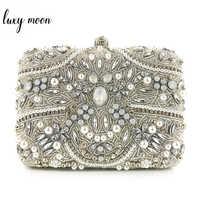 7edfb2d1ed8e Изысканный женские сумки-клатчи высокое качество кристалл алмаза жемчуг  ежедневные клатчи для женщин цепи сумки