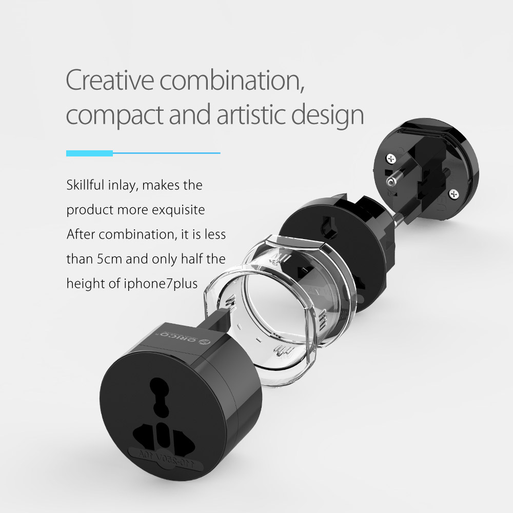 Image 5 - ORICO Electrical Universal Adapter Plug All in One International Travel Adapter Travel Socket USB Power Charger Converter-in International Plug Adaptor from Consumer Electronics