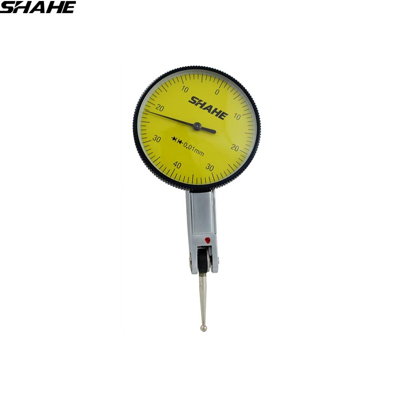 SHAHE high quality dial test indicator 0.01 mm dial indicator dial test indicator gauge dial gauge 0-0.8 mm