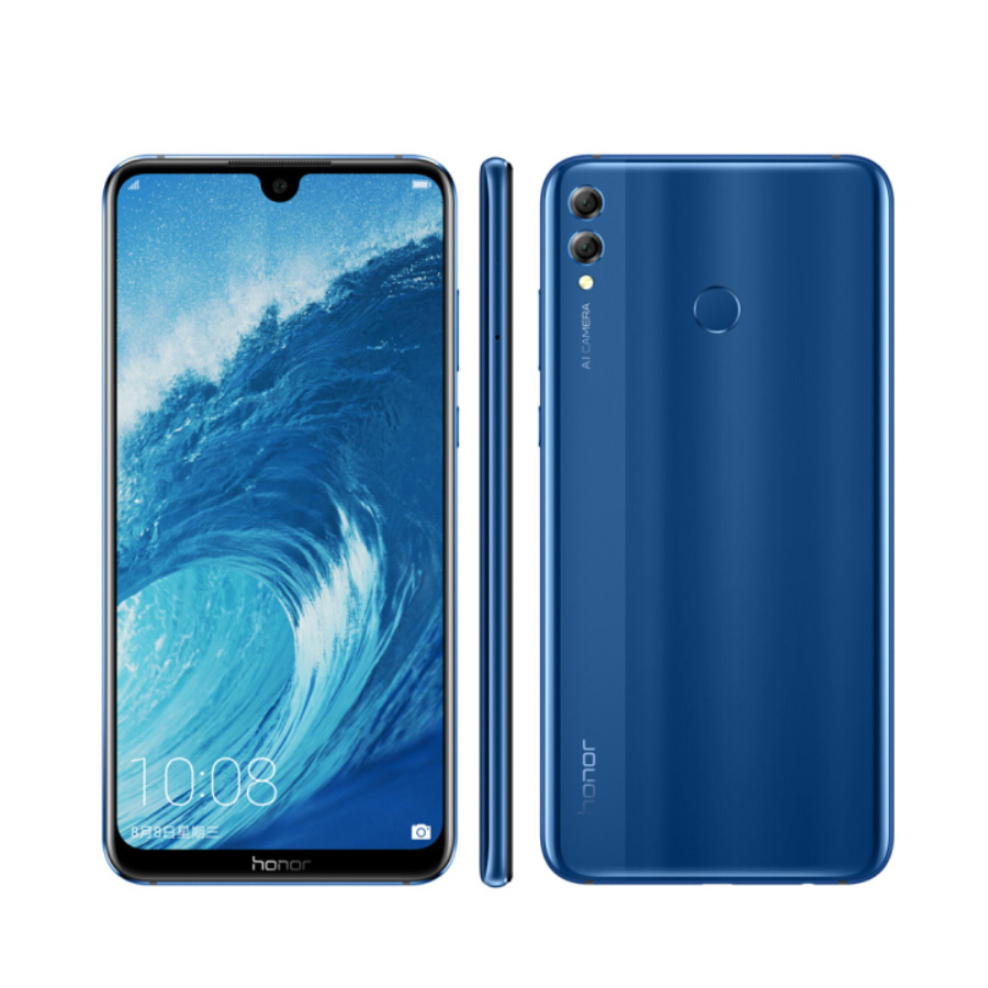 "Global ROM Original honour 8X Max 6G 64G 7.12 ""Snapdragon 660 Octa Core 16MP caméras Android 8.1 5000mAh empreinte digitale téléphone portable"