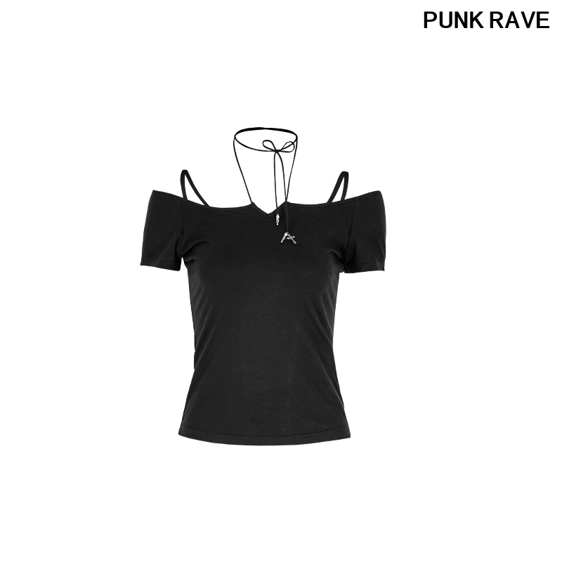 PUNK RAVE Black Steampunk Military Style Men/'s Motocycle Street T-shirts Tops