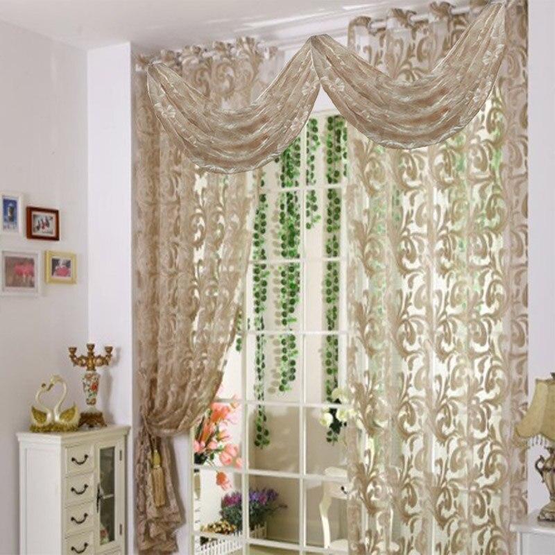 cortinas de voile cortina de la sala de estar moderna cocina ventana cenefa cortina panel de