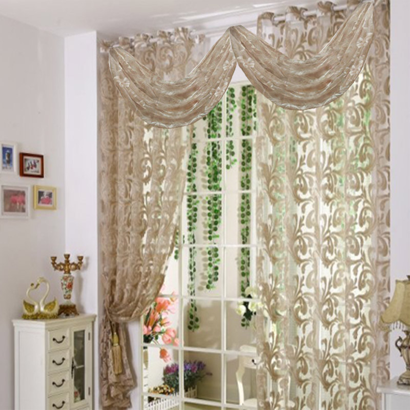Curtains curtain for living room modern voile kitchen curtains with beads luxury tulle panel - Modern kitchen curtains and valances ...