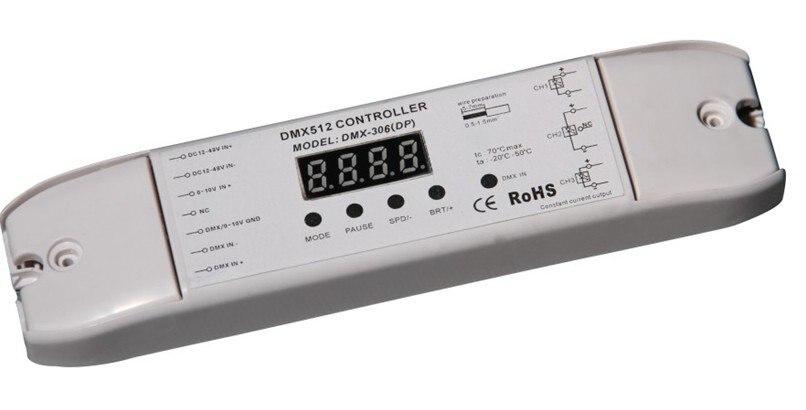 DMX512 декодер с светодиодный дисплей(постоянный ток), 5A* 3 выходной канал