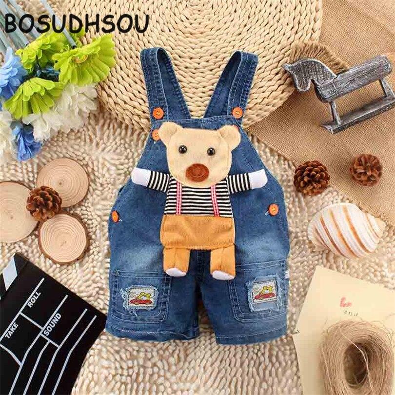 Bosudhsou YL- 15 baby rompers Boy's Girl's Jumpsuit roupas de bebe Denim Overalls infant costumes Children Clothing