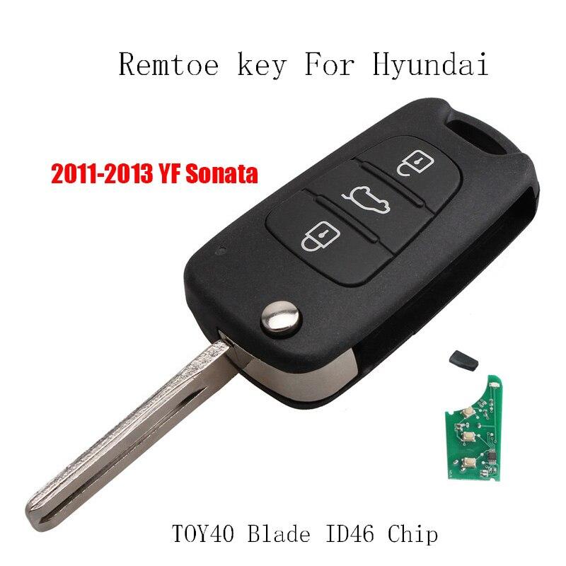 2 Smart Insert Emergency Key Blade Fob for Hyundai Azera Equus Genesis Sonata