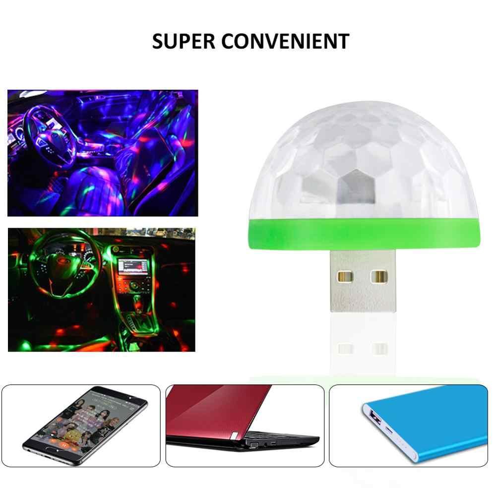 Новый Мини Портативный USB диско сценический свет для дома, свадьбы, вечеринки, декора, светодиодный свет, красочные украшения, КТВ, диско DJ, праздничный свет, лампа
