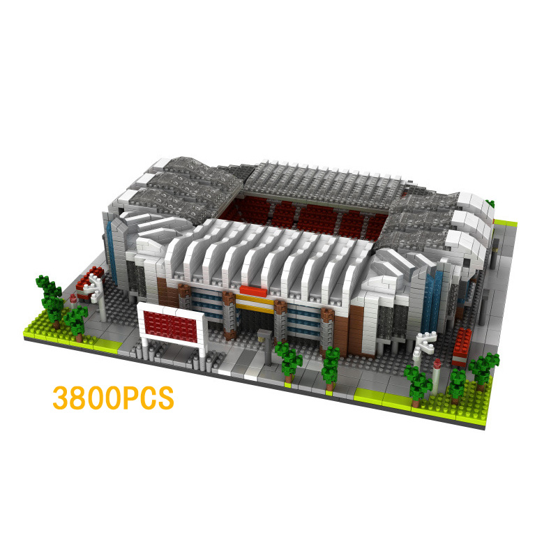 Hot Creator architecture nanoblock England Manchester United football Stadiums Old Trafford micro diamond building block toys цены онлайн